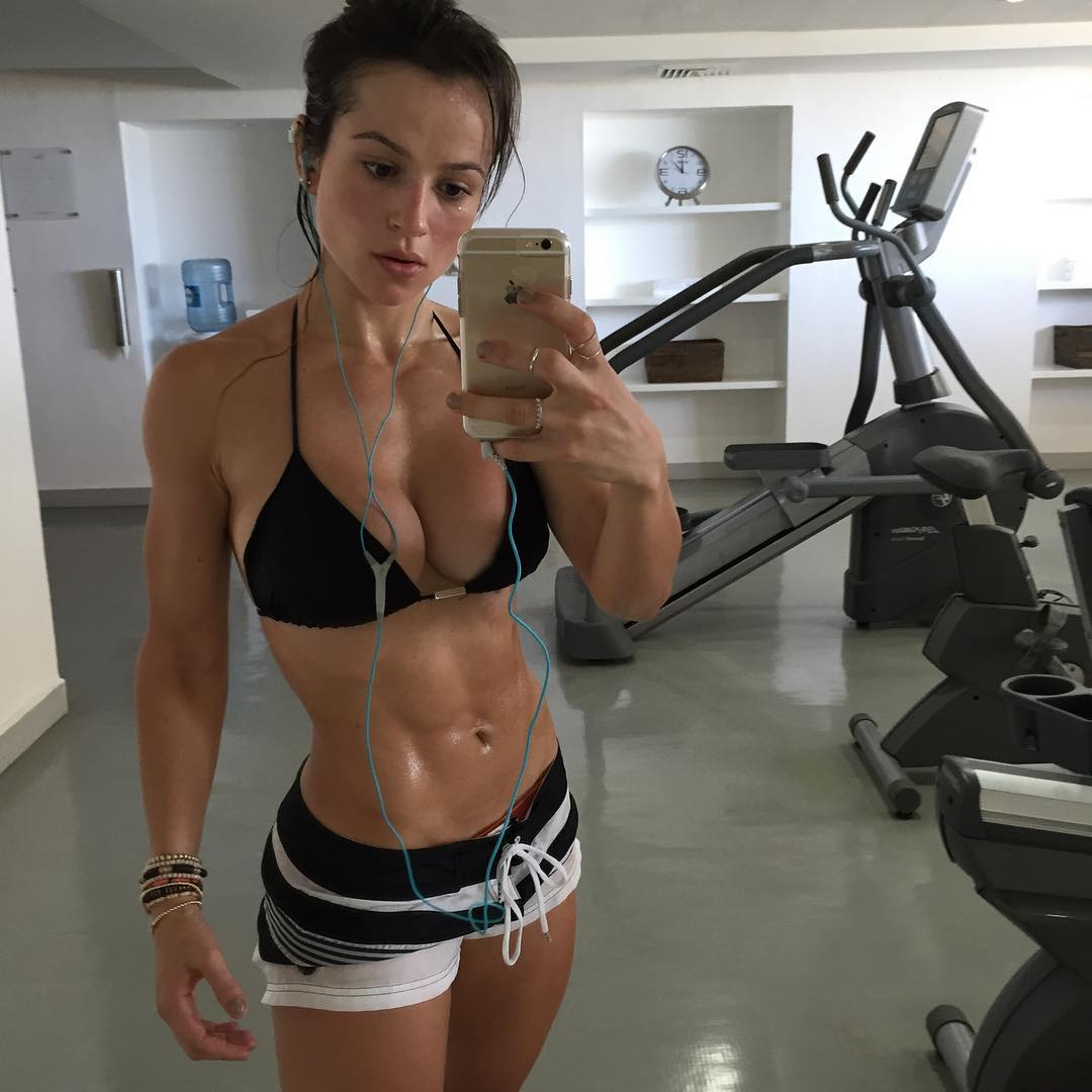 sexy woman in the gym