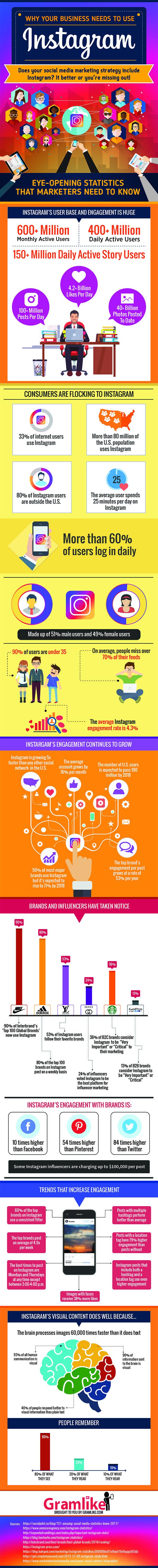 Social Media Marketing & Instagram Infographic